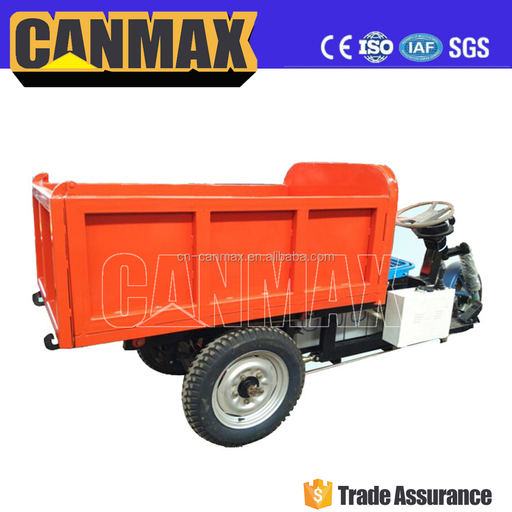 Famous Brand canmax motor tricycle mobile food cart, motorcycle tricycle, truck dumper