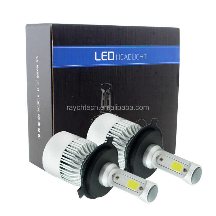 2017 car accessories, all in one led car headlight V2 popular design 72w 8400lm v2 led headlight H4 vs xenon hid bulb