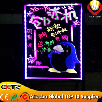 LED Message Board and Illuminating Writing Board - Great for Storefronts and Advertisements