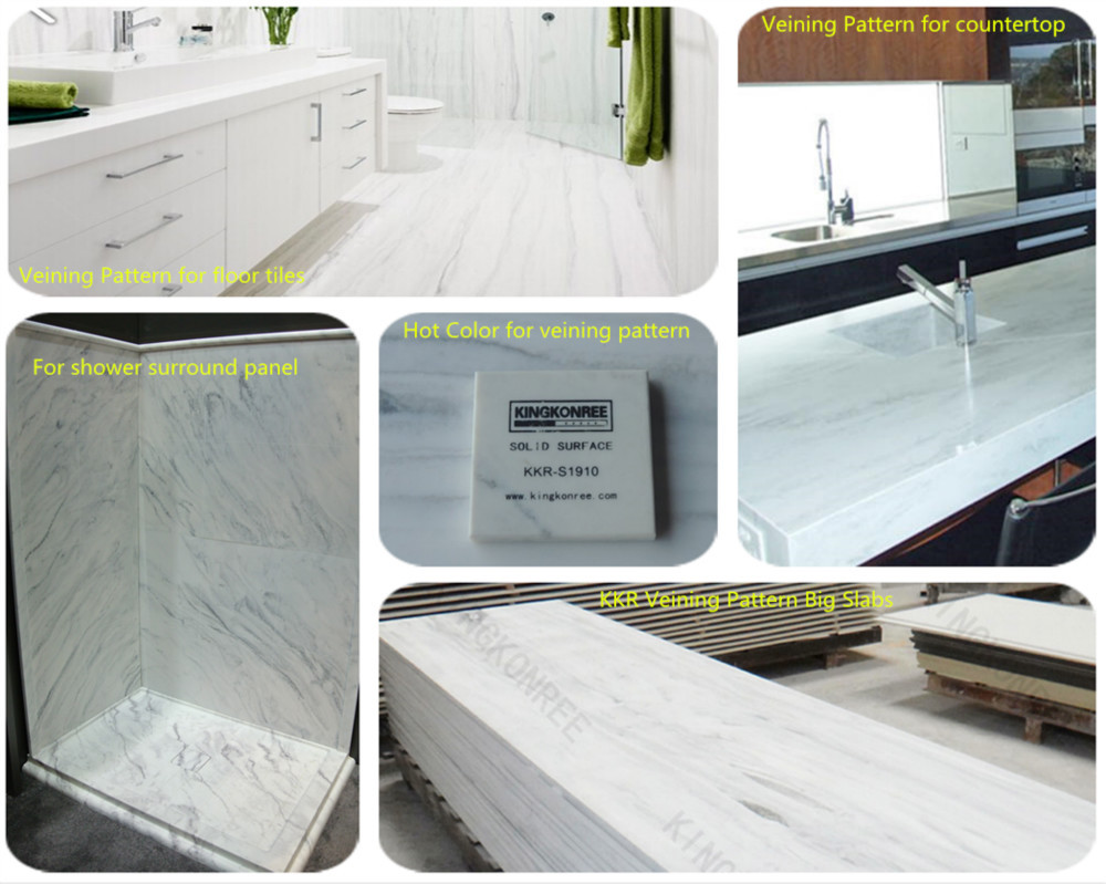 Kkr Best Material Shower Walls Solid Surface Shower Wall