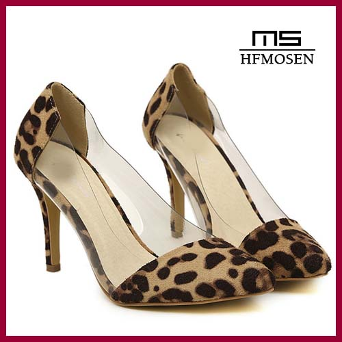 S4296 wholesale 2015 latest fashion leopard women's sexy girls high heel shoes