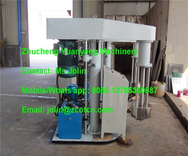 500L Hydraulic lifting Basket Mill for coating and printing ink production