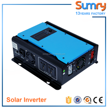 12vdc 1200vac 24vdc 2400vac high frequency modified sine wave hybrid solar inverter with 30A PWM solar controller