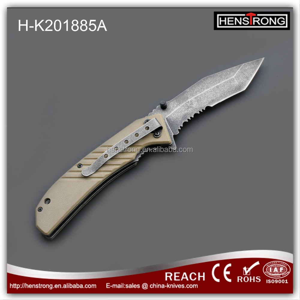 Wholesale metal type stronger knife for camping