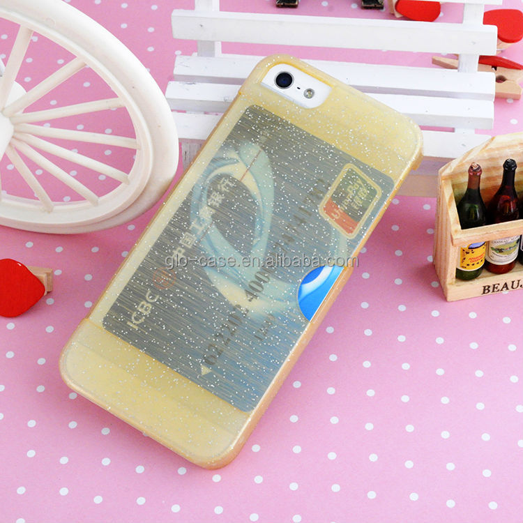 Card holder novelty accessories for mobile phone for apple iphone5s