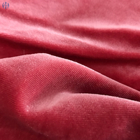 high quality polyester silk velvet fabric with spandex /bag fabric