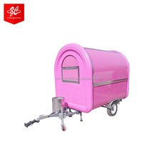 fast food car for sale ice cream machine food cart/caravan mover/china mobile food cart Customized Logo Street Fast Food Truck