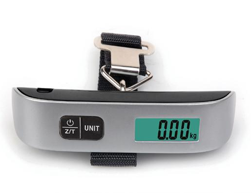 Portable electronic luggage scale with belt 50Kgx10g