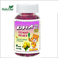 Sugar coated gummy candy with DHA