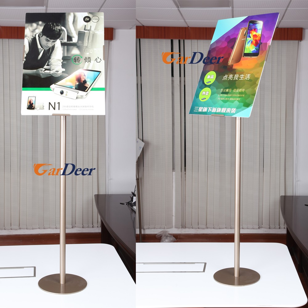 Shenzhen factory customize floor standing A2 stainless steel metal advertising board for retail store display