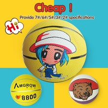 logo could be printed mini rubber basketball,cartoon inflatable structures