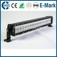 Super bright double row emergency light cover on military vehicle
