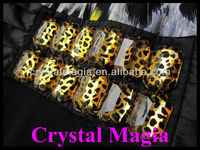 fashion leopard colour acrylic sew on stone for clothes
