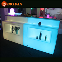 Modern Design Glowing UP Bar Furniture Color Changing Illuminated LED Tally Counter