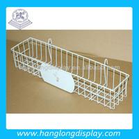 metal wire shallow storage basket for display rack