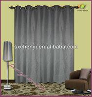 grey gromet faux linen fabric curtain of american size