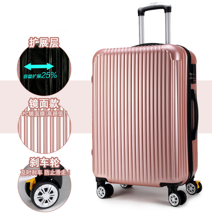 Best lightweight 3 pcs set luggage  Expandable Hard side Spinner Travel luggage   colorful suitcase
