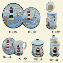 Summer holiday ocean style blue color dinneware kitchenware dinner set