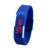 Best price Touch Screen Digital Watch Unisex Sport LED Watches Women Candy Color Silicone Rubber 100pcs