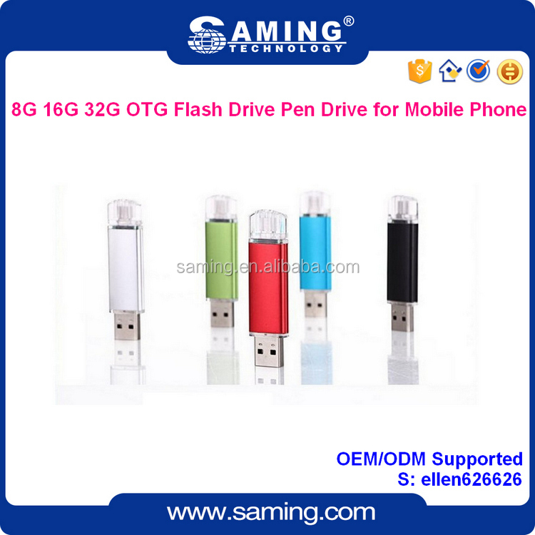 Good quality 8G 16G 32G OTG USB Flash Drive for Mobile Phone