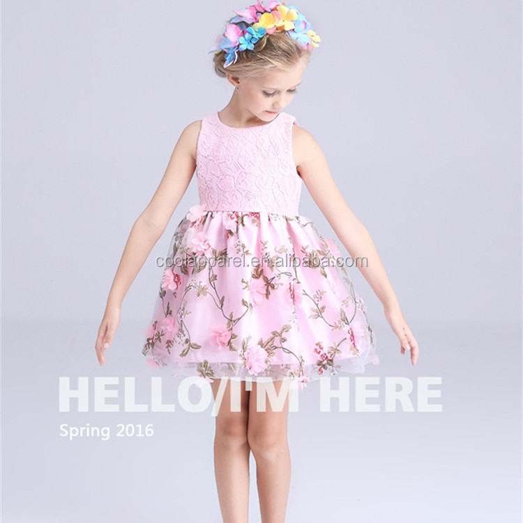 new model lace dresses cute latest flower girl dresses royal blue