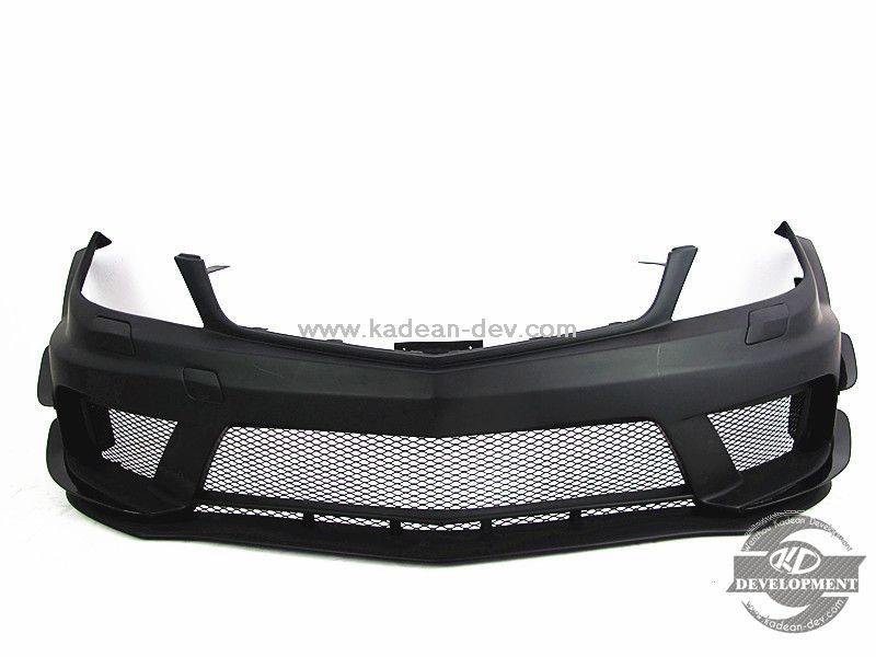 08-10 C63 AMG BLACK SERIES STYLE FRONT BUMPER W/ CANARD FIBER GLASS