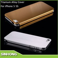 Luxury 0.3mm Thickness Titanium Alloy Metal Cover For iPhone 5S,Mobile Phone Cover For iPhone 5S