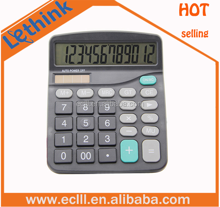 Hot selling cheap 12 digit tabletop calculator for promotion