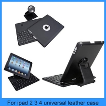 New removable silicone wireless bluetooth keyboard for ipad 234 with Plastic Case Holder