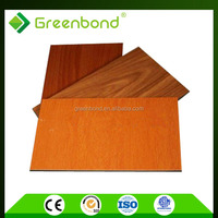 Greenbond anti-static exterior wood wall facade panels well made from china factory