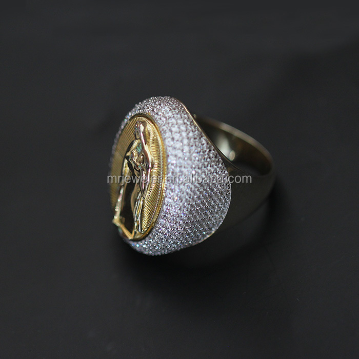 Miss jewelry new arrival latest designs gold ring for men, virgin remy hair extension curly nano ring