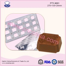 15pcs 15g food grade PC chocolate mould plastci magnetic chocolate molds