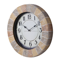 Cheap polyresin outdoor garden waterproof quartz analog 3D wall clock