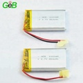 Rechargeable lipo flat 603048 3.7V 850mAh lithium li polymer battery with pcm and wire