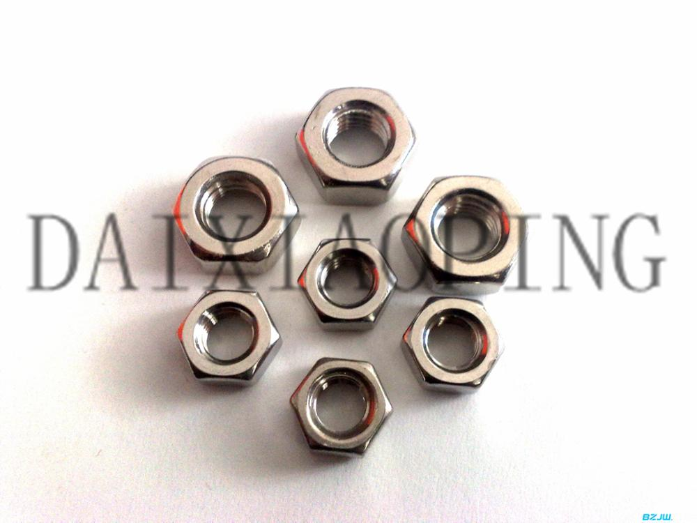Different types of thin stainless lock nuts