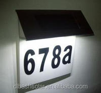 4LED super bright stainless steel ABS plastic solar house sign