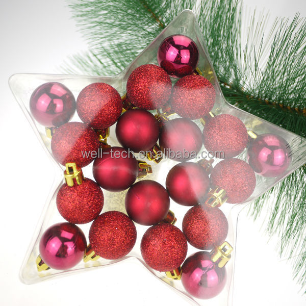 2014 Hot item! Christmas Plastic Ball Set Christmas ornament