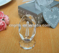 2013 Beautiful religious laser engraved crystal cross for wedding giveaway gift