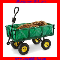 300kgs OEM Mesh Foldable Garden Metal Wagon Cart