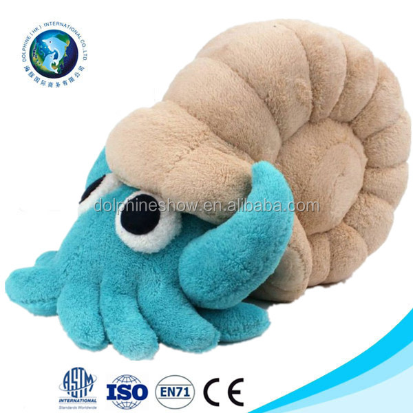 EN71/ASTM standard plush conch stuffed custom crab plush sea animal