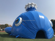giant inflatable tent outdoor bule Whale tent for party