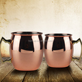 High Quality 14oz and 20oz pure copper mug with handle/customized logo moscow pure copper coffee mug with handle