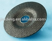 Fiberglass backing pads for flap discs