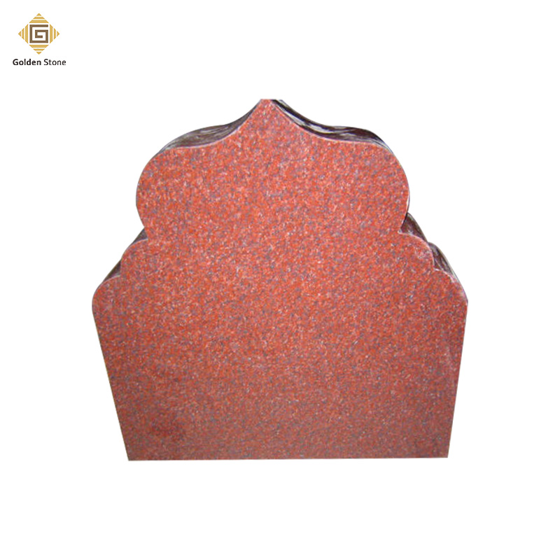 Best quality universal granite flat headstone on red color