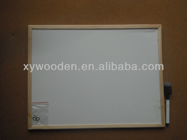 DIY Eco-friendly wood frame cheap magnetic writing board