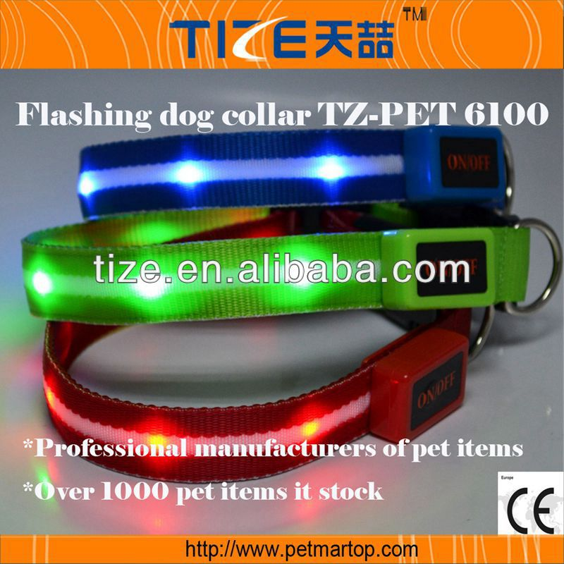 Flashing Led Pet Collar For Dogs TZ-PET6100