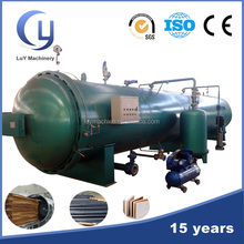 Automatic control pressure wood treatment plant for creosote oil