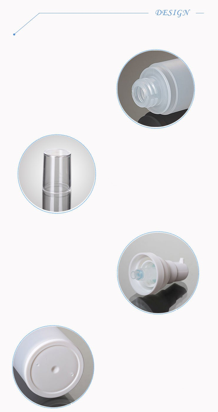 (KZ03)50ML PP Airless Bottle Frosted White