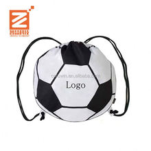 2017 Promotion high quality lower price Recyclable Nylon Drawstring sports soccer ball bag