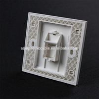 Multi ports ABS plastic Faceplate /single port wall face plate